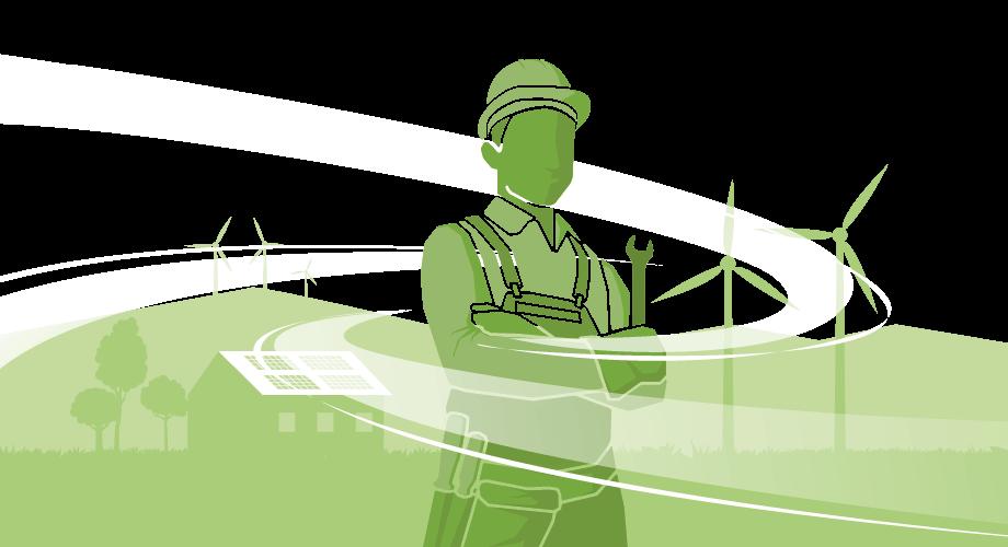 Wartung, Service, Instandhaltung Windenergie- und Solaranlagen