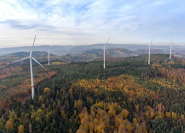 Drohnenbild vom Windpark Freckenfeld